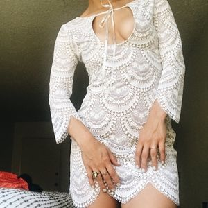 "For Love and Lemons ""Rosalita"" Lace Mini-dress"